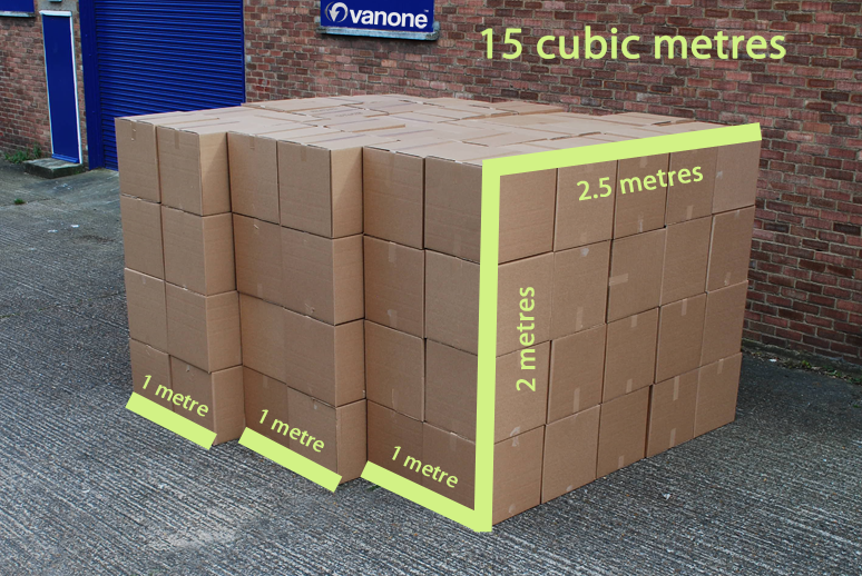 See how much stuff you can fit into a 15 cubic metres van