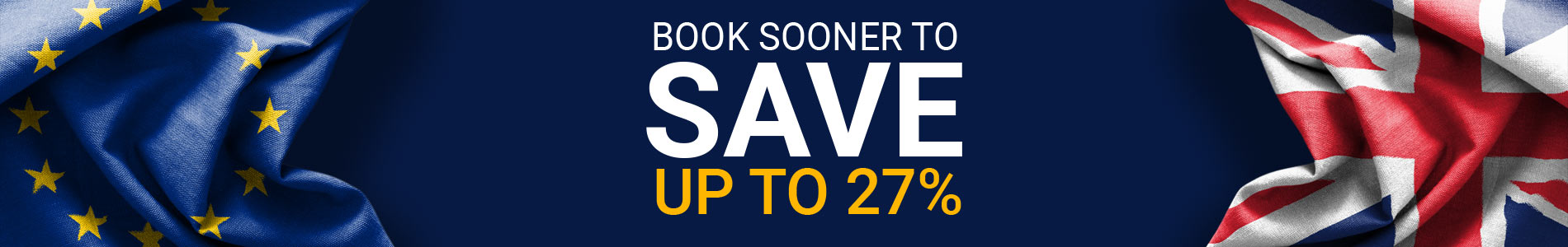 book sooner to save slider
