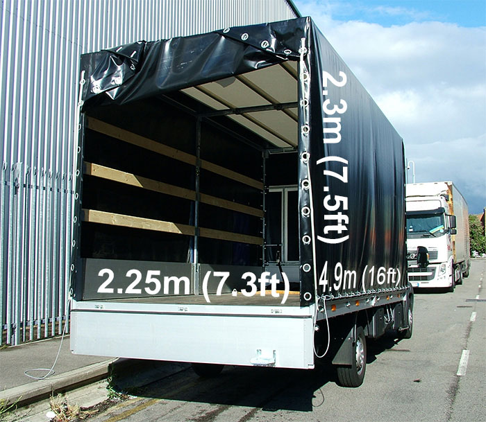Vehicle VanOne Dimensions and Loading space for European Removals